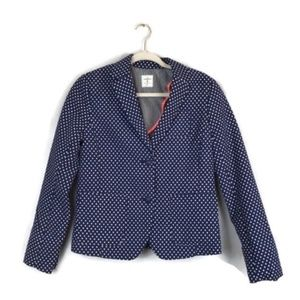 GAP the academy polka dot business blazer size 6